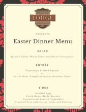 Easter Dinner at the Frisco Lodge